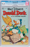 Golden Age (1938-1955):Funny Animal, Four Color #408 Donald Duck (Dell, 1952) CGC NM- 9.2 Off-white towhite pages....