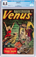 Golden Age (1938-1955):Horror, Venus #17 (Timely, 1951) CGC VF+ 8.5 Off-white pages....