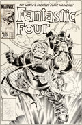 Original Comic Art:Covers, John Byrne and Jerry Ordway Fantastic Four #283 Cover Original Art (Marvel, 1985)....