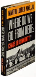 Books:Americana & American History, Martin Luther King, Jr. Where Do We Go from Here: Chaos or Community? New York: Harper & Row, Publishers, 1967. ...