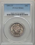 Barber Quarters: , 1892-O 25C MS64 PCGS. PCGS Population: (88/54). NGC Census: (75/31). CDN: $525 Whsle. Bid for problem-free NGC/PCGS MS64. M...