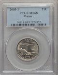 Statehood Quarters, 2003-P 25C Maine MS68 PCGS. PCGS Population: (21/0). NGC Census:(4/0). . From The jwb1040 Collection. ...