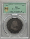 Early Half Dollars, 1795 50C 2 Leaves, O-117a, T-3, R.4, Good 6 PCGS Secure. PCGSPopulation: (2/4 and 0/0+). NGC Census: (2/6 and 0/0+). . ...