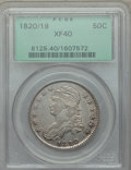 Bust Half Dollars, 1820/19 50C Curl Base 2, O-102, R.1, XF40 PCGS. PCGS Population: (2/26). NGC Census: (4/38). XF40. . From The Merrill C...
