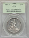 Seated Half Dollars: , 1850-O 50C MS62 PCGS. PCGS Population: (11/38). NGC Census: (5/30). CDN: $900 Whsle. Bid for problem-free NGC/PCGS MS62. Mi...