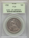 Seated Half Dollars: , 1850 50C VF25 PCGS. PCGS Population: (1/104). NGC Census: (0/85). Mintage 227,000. . From The Merrill Collection. ...