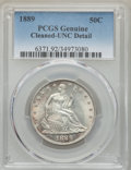 Seated Half Dollars, 1889 50C -- Cleaned -- PCGS Genuine. UNC Details. NGC Census: (0/76). PCGS Population: (0/115). CDN: $800 Whsle. Bid for pr...