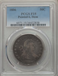 Early Half Dollars: , 1806 50C Pointed 6, Stem, Fine 15 PCGS. PCGS Population: (109/973).NGC Census: (59/744). Mintage 839,576. ...