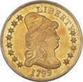 Early Eagles, 1799 $10 Small Obverse Stars, BD-7, R.3, MS62 PCGS....