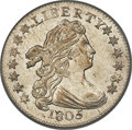 Early Dimes, 1805 10C 4 Berries, JR-2, R.2, MS64 PCGS. CAC....