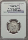 Coins of Hawaii , 1883 25C Hawaii Quarter -- Improperly Cleaned -- Details NGC. AU.NGC Census: (33/1208). PCGS Population: (99/1691). CDN: $...