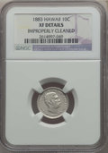 Coins of Hawaii , 1883 10C Hawaii Ten Cents -- Improperly Cleaned -- NGC Details. XF.NGC Census: (48/318). PCGS Population: (97/484). CDN: $...