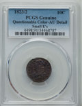 Bust Dimes, 1823/2 10C Small Es -- Questionable Color -- PCGS Genuine. AUDetails. NGC Census: (1/66). PCGS Population: (7/48). CDN: $9...