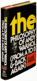 Books:Art & Architecture, Andy Warhol. The Philosophy of Andy Warhol (From A to B and Back Again). New York: Harcourt Brace Jovanovich, [1...