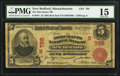 National Bank Notes:Massachusetts, New Bedford, MA - $5 1902 Red Seal Fr. 587 The Merchants NB Ch. # (N)799. ...