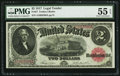 Large Size:Legal Tender Notes, Fr. 57 $2 1917 Legal Tender PMG About Uncirculated 55 EPQ....