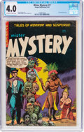 Golden Age (1938-1955):Horror, Mister Mystery #17 (Aragon, 1954) CGC VG 4.0 Off-white to white pages....