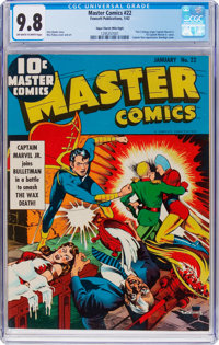 Master Comics #22 Mile High Pedigree (Fawcett Publications, 1942) CGC NM/MT 9.8 Off-white to white pages