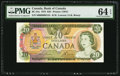 Canadian Currency: , BC-54a $20 1979 with Low Serial Number 50000000124. ...
