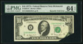 Error Notes:Attached Tabs, Butterfly Fold Error Fr. 2024-E $10 1977A Federal Reserve Note. PMG Choice Uncirculated 64 EPQ.. ...