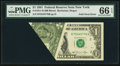 Error Notes:Foldovers, Fold Over Error Fr. 1911-B $1 1981 Federal Reserve Note. PMG GemUncirculated 66 EPQ.. ...