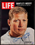 """Baseball Collectibles:Publications, Mickey Mantle Signed """"LIFE"""" Magazine.. ..."""