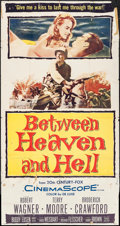 "Movie Posters:War, Between Heaven and Hell (20th Century Fox, 1956). Three Sheet (41""X 78"") & Lobby Card Set of 8 (11"" X 14""). War.. ... (Total: 9Items)"