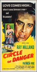 """Movie Posters:Mystery, Circle of Danger (United Artists, 1951). Three Sheet (41"""" X 80"""").Mystery.. ..."""