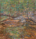 Fine Art - Work on Paper:Drawing, Charles Salis Kaelin (American, 1858-1929). Trees and Rocks.Pastel on paper. 16 x 16 inches (40.6 x 40.6 cm) (sheet). S...