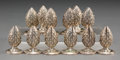 Silver Smalls:Other , Twelve Tiffany & Co. Silver Artichoke-Form Place Card Hold...