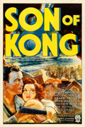 "Movie Posters:Horror, Son of Kong (RKO, 1933). One Sheet (27"" X 41"") Style A, Glenn Cravath Artwork.. ..."