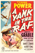 "Movie Posters:War, A Yank in the R.A.F. (20th Century Fox, 1941). One Sheet (27"" X 41"") Style A.. ..."