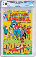 Modern Age (1980-Present):Superhero, Captain America Goes to War Against Drugs #1 Second Printing(Marvel, 1990) CGC NM/MT 9.8 White pages....