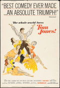 Movie Posters:Academy Award Winners, Tom Jones (United Artists, 1963). Rolled, Fine+. P...