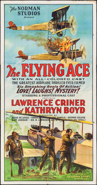 "The Flying Ace (Norman, 1926). Three Sheet (41"" X 78""). Black Films"