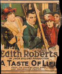 """A Taste of Life (Universal, 1919). Partial Stone Litho Six Sheet (65"""" X 78.5""""). Comedy"""