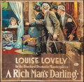 "Movie Posters:Comedy, A Rich Man's Darling (Universal, 1918). Six Sheet (79"" X 79.5"").Comedy.. ..."