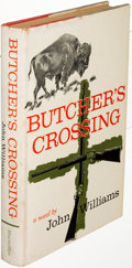 Books:Literature 1900-up, John Williams. Butcher's Crossing. New York: 1960. Firstedition, inscribed; with a copy of the first English editio...(Total: 2 Items)