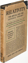 Books:Science & Technology, Albert Einstein. Relativity. The Special and GeneralTheory. New York: 1920. First U. S. edition....