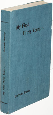 [Contact Editions]. Gertrude Beasley. My First Thirty Years. [Paris: 1925]. First edition