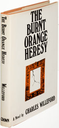 Books:Mystery & Detective Fiction, Charles Willeford. The Burnt Orange Heresy. New York:[1971]. First edition, presentation copy, inscribed....