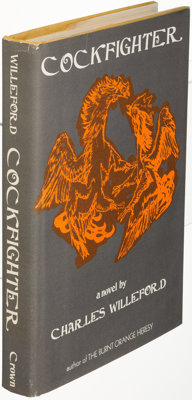 Charles Willeford. Cockfighter. New York: [1972]. First hardcover edition, signed