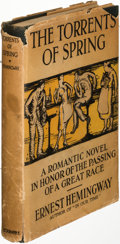Books:Literature 1900-up, Ernest Hemingway. The Torrents of Spring. New York: 1926. First edition of Hemingway's first novel.. ...