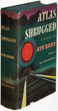 Books:Fiction, Ayn Rand. Atlas Shrugged. New York: [1957]. First edition,fourth printing; presentation copy, inscribed....