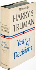 Books:Biography & Memoir, Harry S. Truman. Year of Decisions [and:] Years of Trialand Hope... Garden City: 1955-1956. First trade... (Total: 2Items)