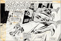 Original Comic Art:Splash Pages, Dave Hunt and Mike Esposito Super Spider-Man #179 Splash Page 1 Original Art (Marvel UK, 1976)....