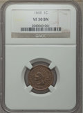 Indian Cents, 1868 1C VF30 NGC. NGC Census: (18/536). PCGS Population: (36/693). Mintage 10,266,500. ...