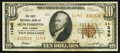 National Bank Notes:West Virginia, South Charleston, WV - $10 1929 Ty. 2 The First NB Ch. # 11340. ...