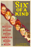 "Movie Posters:Comedy, Six of a Kind (Paramount, 1934). One Sheet (27"" X 41"") Style A....."