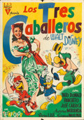 "Movie Posters:Animation, The Three Caballeros (RKO, 1945). Spanish One Sheet (27.75"" X39.5"") Jose Maria Artwork.. ..."